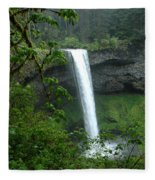 Silver Falls 1 In Oregon Fleece Blanket