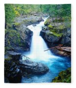 Silver Falls  Fleece Blanket