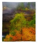 Silver Falls Pano Fleece Blanket