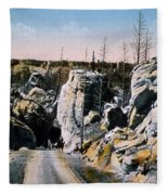 Silver Gate Road Yellowstone Np Fleece Blanket