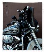 Silver Harley Motorcycle Fleece Blanket
