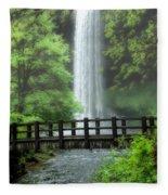 Silver Lake Falls Fleece Blanket