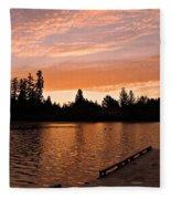 Silver Lake Sunset Fleece Blanket