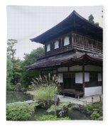 Silver Pavilion - Kyoto Japan Fleece Blanket