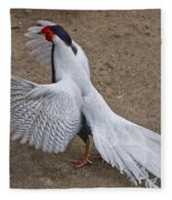 Silver Pheasant Fleece Blanket
