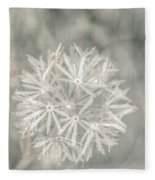 Silver Puff Fleece Blanket