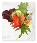 Silver Salad Fork Fleece Blanket