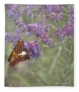 Silver Spotted Skipper Fleece Blanket