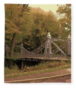 Silver Suspension Bridge Fleece Blanket