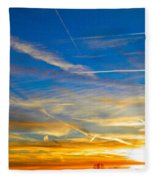 Silver Wing Sunset Fleece Blanket