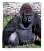 Silverback Western Lowland Gorilla Fleece Blanket