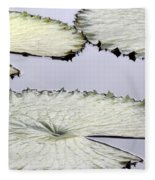 Silvery Sage Green Lily Pads Fleece Blanket