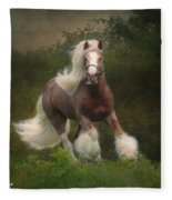 Simon And The Storm Fleece Blanket