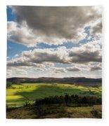 Simonside Hills From Rothbury Terraces Fleece Blanket