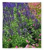 Simple Beauty - Purple And Pink Fleece Blanket