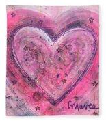 Simple Love Simple Heart Fleece Blanket