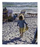 Simpler Times 2 - Miami Beach - Florida Fleece Blanket