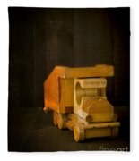 Simpler Times - Old Wooden Toy Truck Fleece Blanket