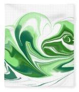 Simplicity In Green Fleece Blanket