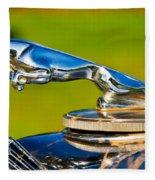 Simply Jaguar-front Emblem Fleece Blanket