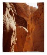 Sinai Desert  Canyon Region  Walking Path Egypt Fleece Blanket