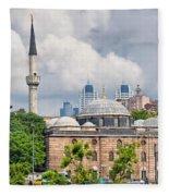 Sinan Pasha Mosque In Istanbul Fleece Blanket