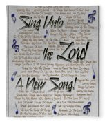 Sing Unto The Lord A New Song Fleece Blanket