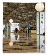 Singapore Changi Airport 03 Fleece Blanket