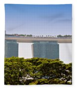 Singapore Marina Bay Sands And Skypark Fleece Blanket