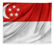 Singaporean Flag Fleece Blanket
