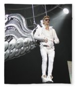 Singer Justin Bieber Fleece Blanket