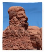 Singing Rock At Arches Np Fleece Blanket