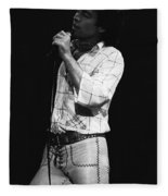 Singing With His Heart And Soul Fleece Blanket