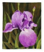 Single Iris Fleece Blanket