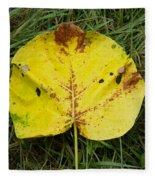 Single Leaf Fleece Blanket