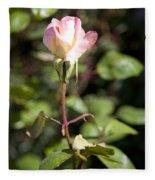 Single Rose Fleece Blanket
