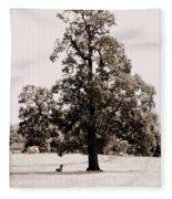 Single Tree Journey Fleece Blanket