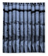 Singles In Cyan  Fleece Blanket