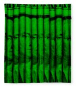 Singles In Green Fleece Blanket