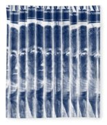 Singles In Negative Blue Fleece Blanket