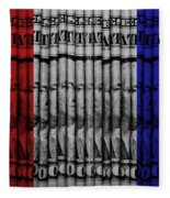 Singles In Red White And Blue Fleece Blanket