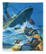 Sinking Of The Titanic Fleece Blanket