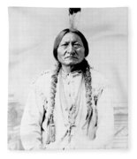 Sioux Chief Sitting Bull Fleece Blanket by War Is Hell Store