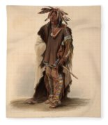 Sioux Warrior Fleece Blanket