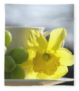 Sipping Spring Fleece Blanket