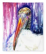 Sir Archibald Woodward Woodstork IIi Fleece Blanket