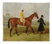 Sir Tatton Sykes Leading In The Horse Sir Tatton Sykes With William Scott Up Fleece Blanket