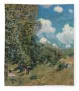Sisley The Road, 1875 Fleece Blanket