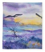 Sister Ravens Fleece Blanket