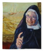 Sister Wendy Fleece Blanket